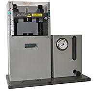 Bench top manual pellet presses for sample preparation.